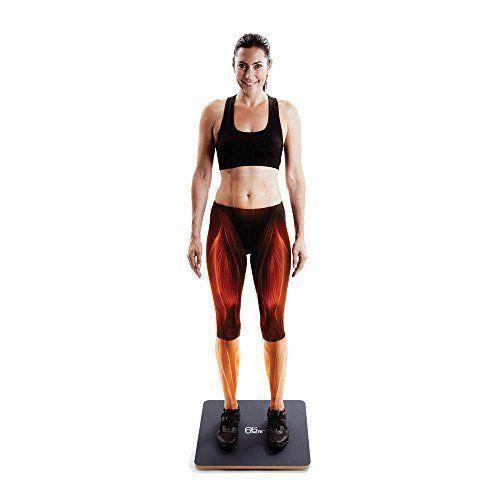 66Fit Planche d'équilibre à bascule en bois - Surface en PVC - 50cm - BP-A80206PV_50 cm