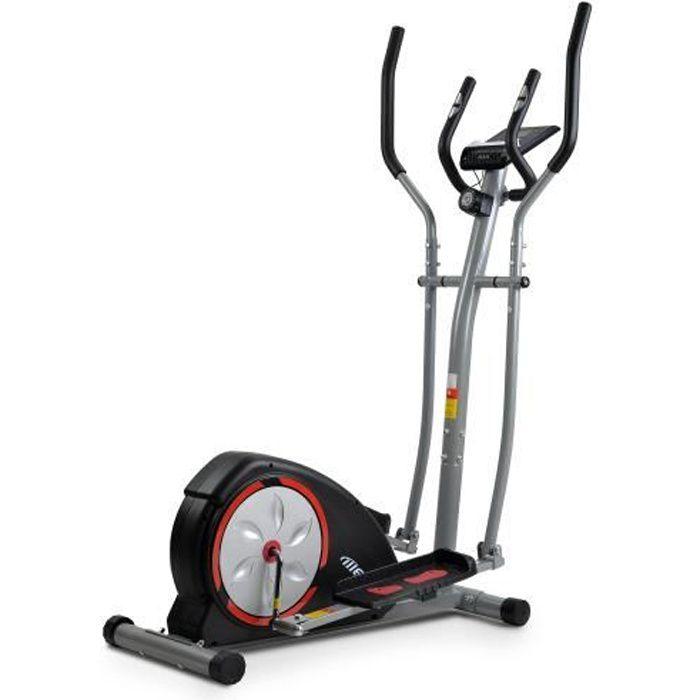 Vélo elliptique avec écran LCD vélo elliptique portable avec 8 niveaux de résistance et mouvement bidirectionnel