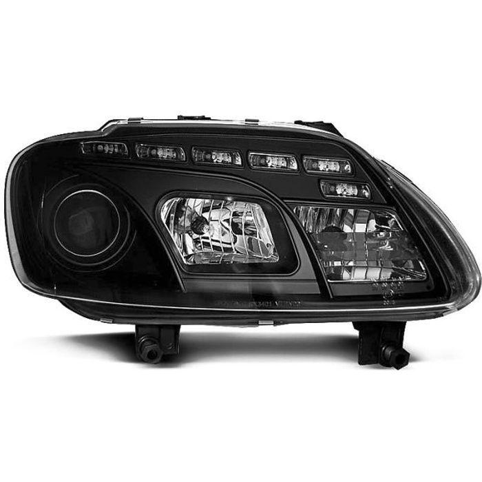 Paire de feux phares VW Touran 03-06 Daylight led noir (WC4)