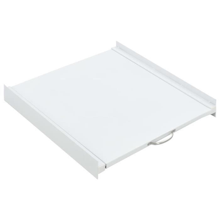 Kit pour tour de lavage-séchage avec étagère coulissante 60 x 60 x 8 cm (l x P x H)Compartiment pour Lave linge sèche linge