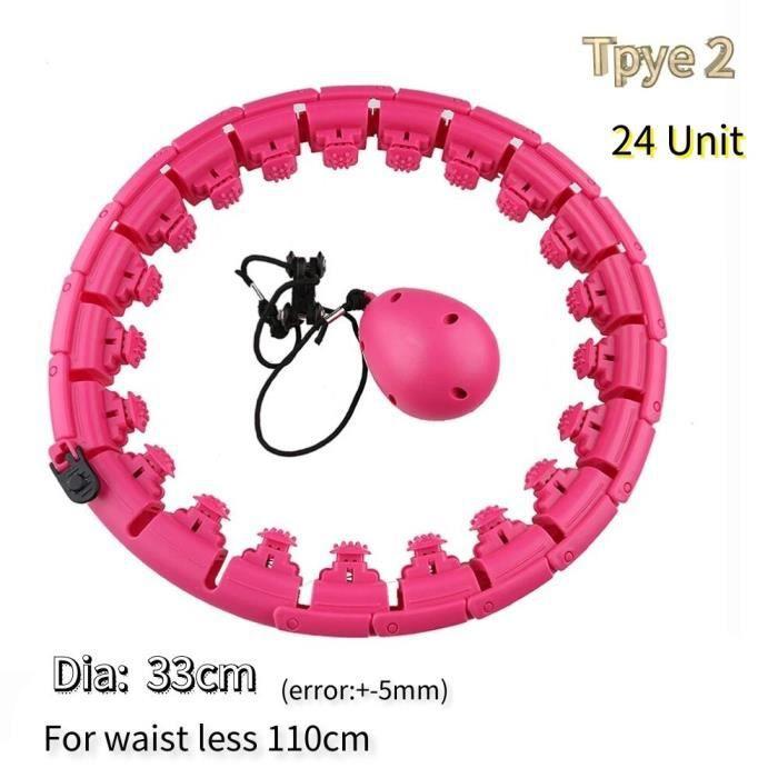 Cerceau compteur pour fitness,cercle de sport intelligent, ajustable à la taille, pour exercices de gym, équipement pour [71A26B3]