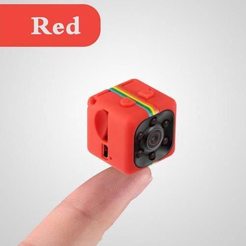 Mini caméra SQ 11, 1080p HD, petit caméscope avec vision nocturne, détecteur de mouvement, convient au sport, vidéo numérique-rouge