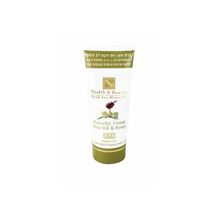 Mer Morte cosmétique - Health and Beauty Dead Sea Minerals - Crème puissante à lhuile dolive et au miel - 180 ml