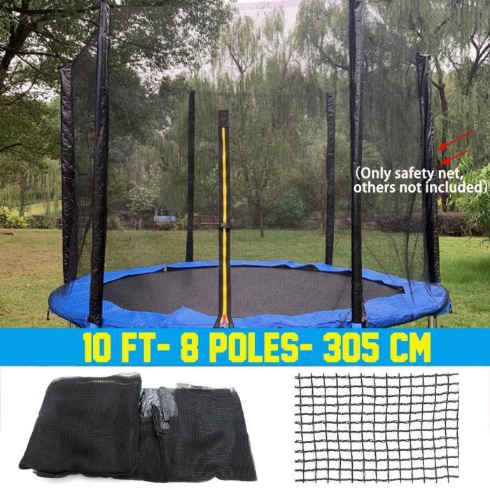 Filet de Remplacement Pour Trampolines Filet de sécurité - 10 ft- 8 poteaux Ø305 cm