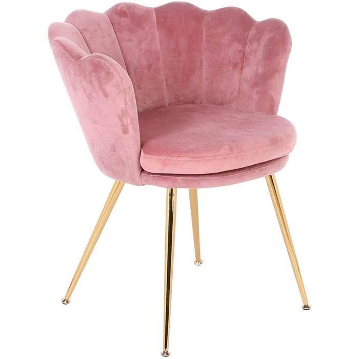 CHAISE ta Chaise en Velours Rose Chaise Longue en Velours reacutetro Chaise de Maquillage Chaise dinviteacute pour commodes de C211