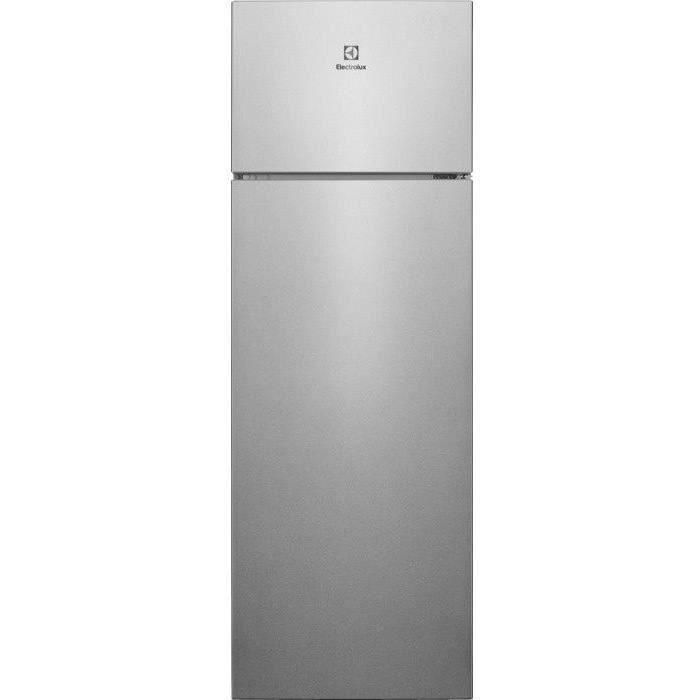 ELECTROLUX LTB1AF28U0 - Réfrigérateur congélateur haut - 281L (240+41) - Froid statique - L55,1cm x H 161cm - Inox