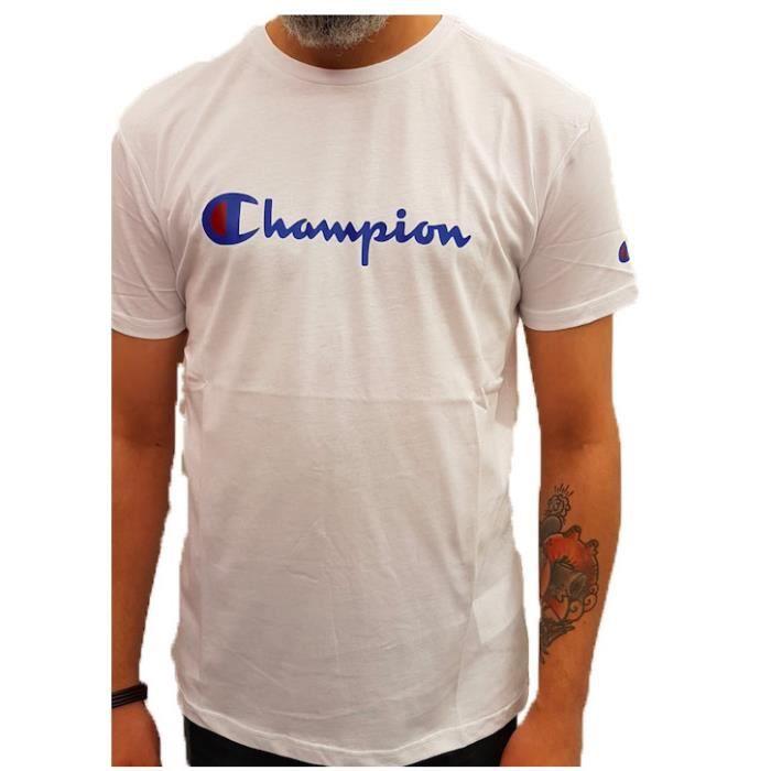 Tee Shirt Champion homme 210972 Blanc