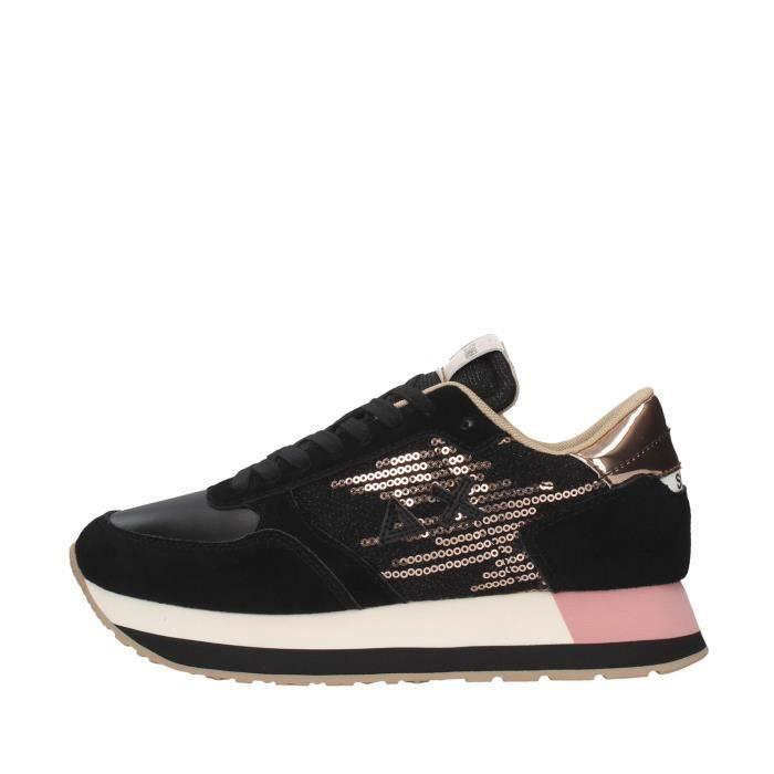 Sun68 Z40218 chaussures de tennis faible Femme NOIR