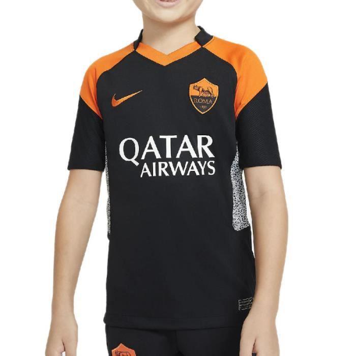 Maillot Nike AS ROMA STADIUM JERSEY - Réf. CK7890-011. Couleur : Noir, Orange. Détails. - Col V. - Manches courtes. - Coupe standard