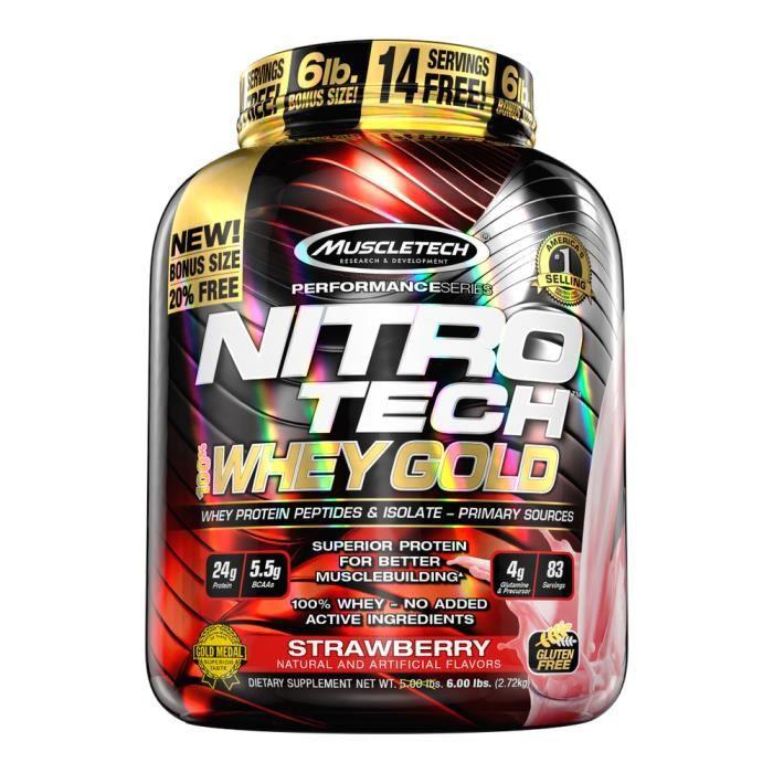 Performance Series Nitro-Tech 100% Whey Gold 6 lb (2721g) (Biscuits et crème)