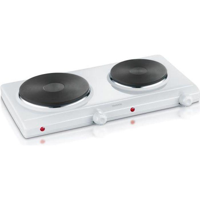 SEVERIN DK1042 Plaque de cuisson posable en fonte - Blanc