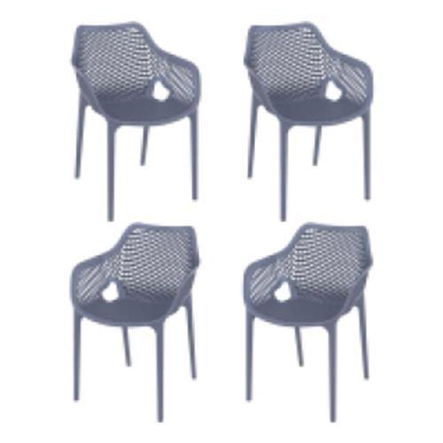 Fauteuils de terrasse AIR XL - Anthracite - X4 - E-Terrasses