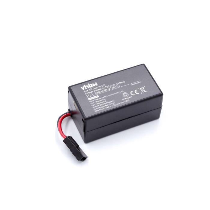 vhbw Batterie Li-polymère 2500mAh (11.1V) pour Drone Multicopter Quadrocopter Parrot AR Drone 1.0, AR Drone 2.0, AR Drone 2.0HD