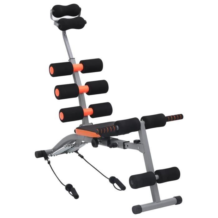 vidaXL Appareil d'exercices abdominaux en L avec cordes élastiques