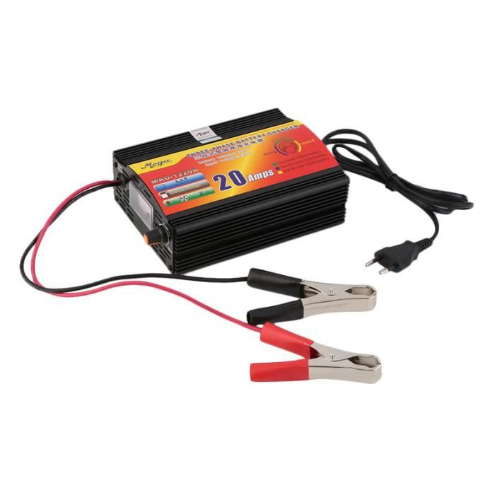 Chargeur batterie universel GS-500 230V 50HZ pour batterie 6V 12V  moto Neuf
