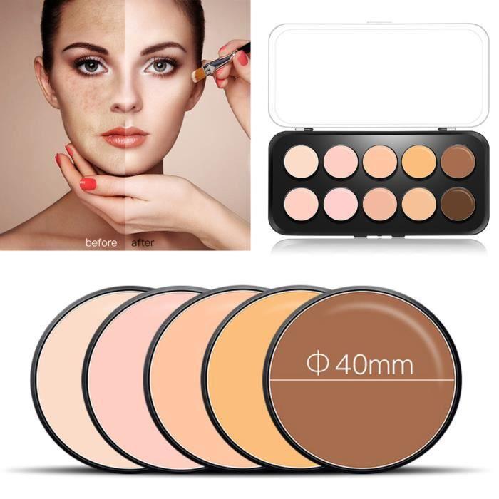 PALETTE DE MAQUILLAGE  10 Couleur Visage Pressé maquillage Correcteur Crè