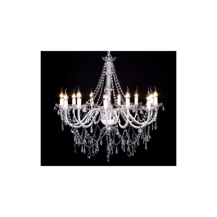 lustre en cristal 12 bougies 1600 cristaux achat vente lustre en cristal 12 bougies cdiscount. Black Bedroom Furniture Sets. Home Design Ideas