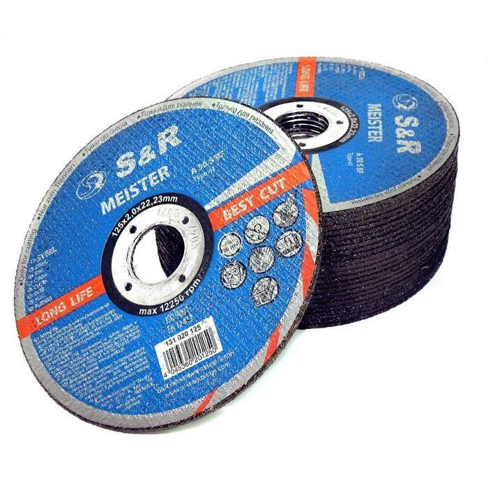 Lot de 18 disques à tronçonner 125x1,0x22,23 mm