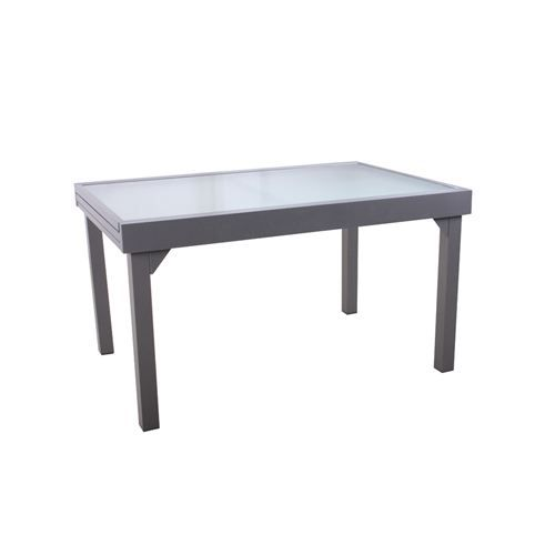 Table de jardin extensible chaweng alu gris achat for Table extensible gris clair