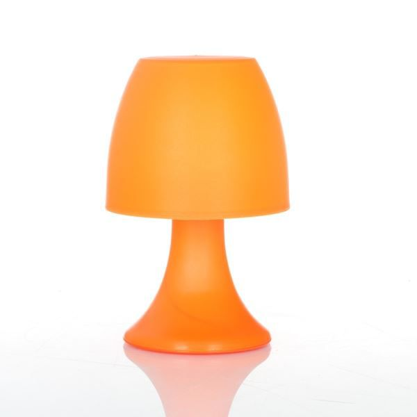 lampe champignon led coloris orange originale et color e cette lampe s 39 ins rera tr s. Black Bedroom Furniture Sets. Home Design Ideas