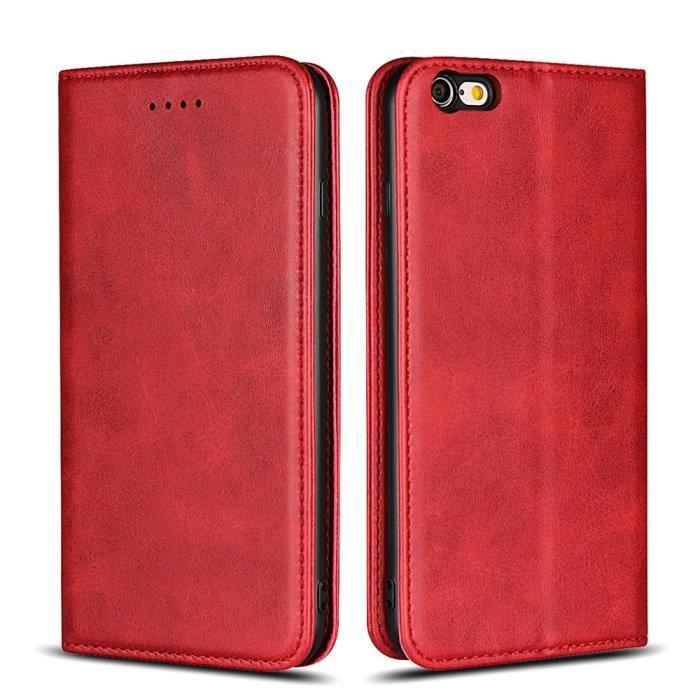 iphone 6 plus coque portefeuille en cuir veritable