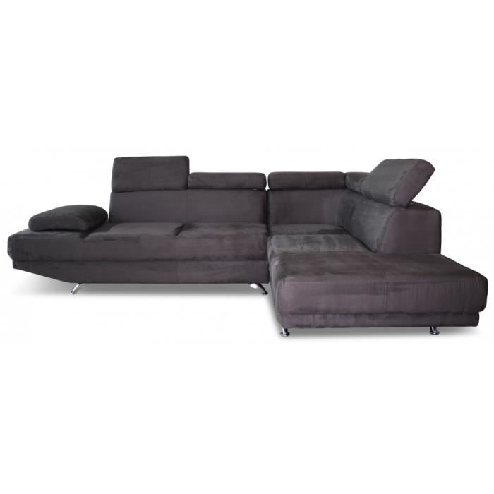 canap d 39 angle 7 places microfibre t ti re r gl achat vente canap sofa divan cdiscount. Black Bedroom Furniture Sets. Home Design Ideas