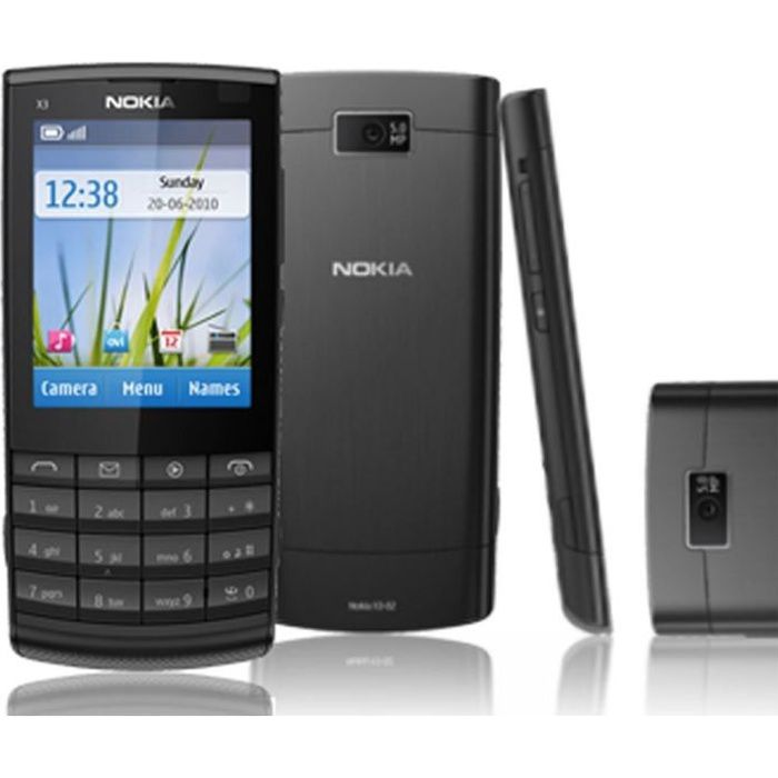 nokia x3 02 tout operateur achat smartphone pas cher. Black Bedroom Furniture Sets. Home Design Ideas