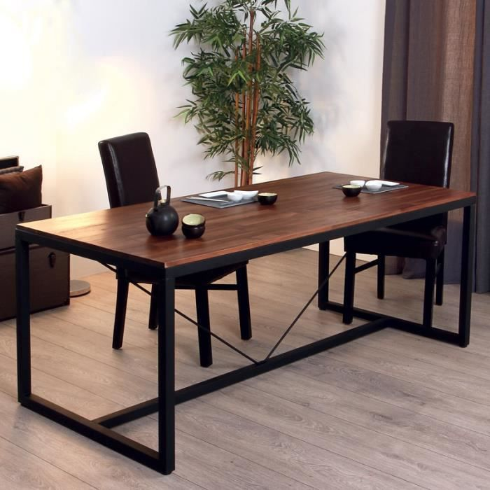 table de repas edena noir paris prix achat vente table manger seule table de repas. Black Bedroom Furniture Sets. Home Design Ideas