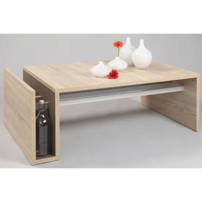 Table basse willy coloris sonoma ch ne clair achat vente table bass - Table and co vente en ligne ...