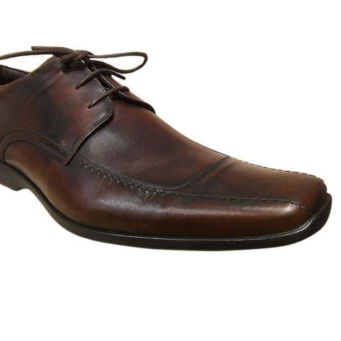 Derbies homme cuir PELLET marron