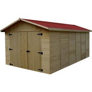 GARAGE Garage 15,60m² en bois - Toiture en plaques ondulé