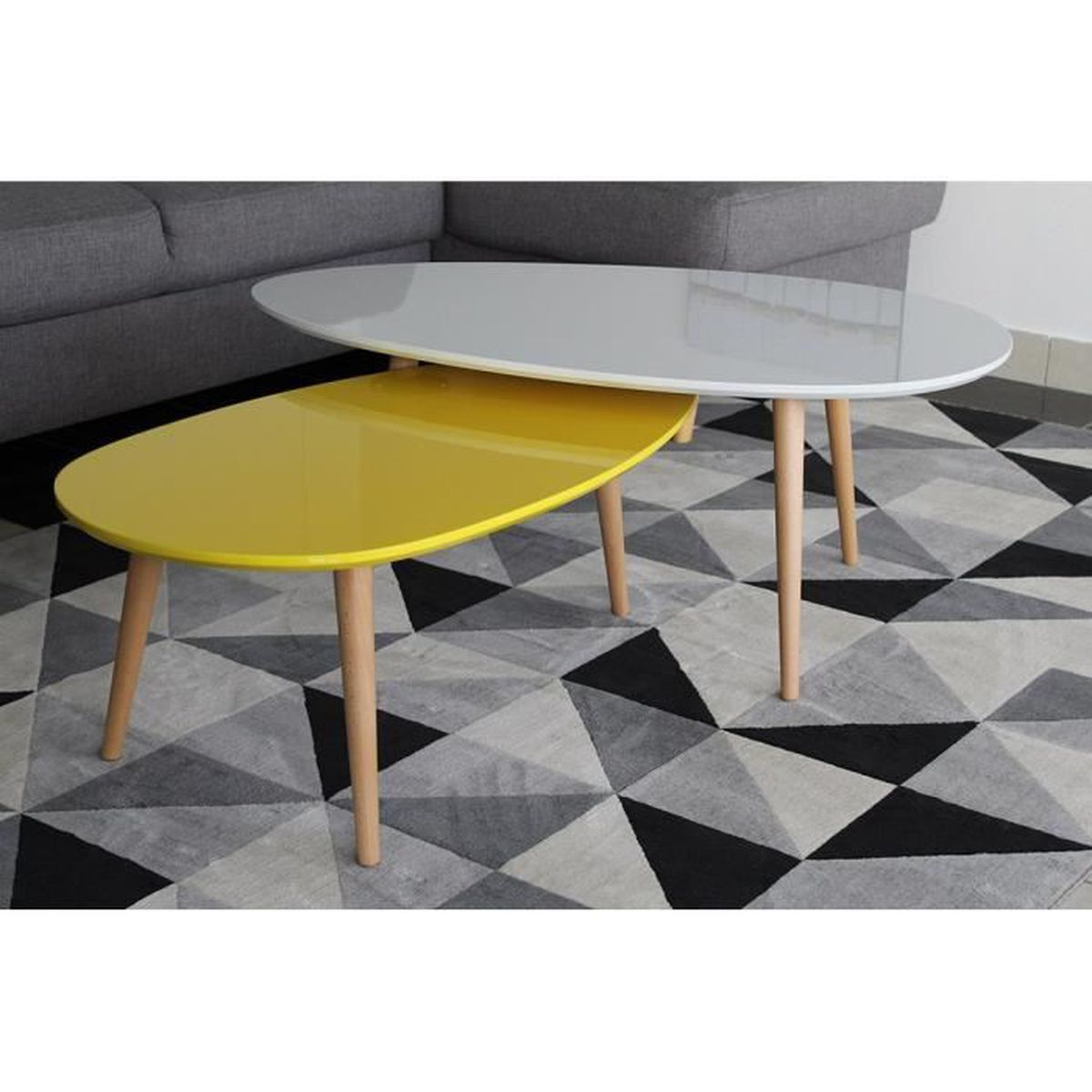 100 table basse gigogne maison du table basse achat vente table basse - Tables basses gigognes ...