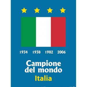 AFFICHE - POSTER Poster Reproduction Football - L'Italie Championne