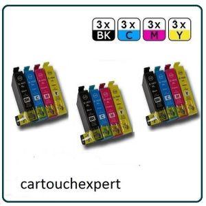 CARTOUCHE IMPRIMANTE x12 cartouches d'encre compatibles Epson WF2660DWF
