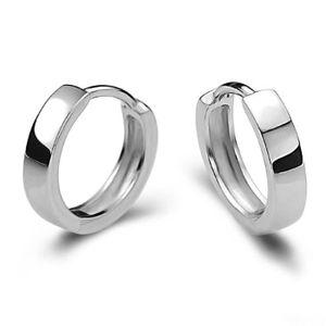 boucle d'oreille anneau argent femme