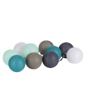 VILLAGE - MANÈGE Guirlande lumineuse 10 boules D'o - Diam. 6 cm - B