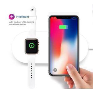 CHARGEUR TÉLÉPHONE 2 en 1 QI Chargeur Induction pour Téléphone et iwa