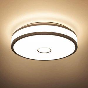 chambre /à coucher Blanche Chaud 3000K Plafonnier rond de salle de bains 36W salon Hosome Plafonnier LED couloir et plus plafonnier moderne /étanche IP44 pour cuisine