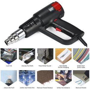 1500 W air chaud pistolet thermique Pistolet De Soudage Outils 300//500 ℃ 4 buses 450L//min Volume d/'Air