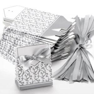 20 Ivoire Texturé Faveur Nuptiale//Boîtes-cadeaux-sac forme