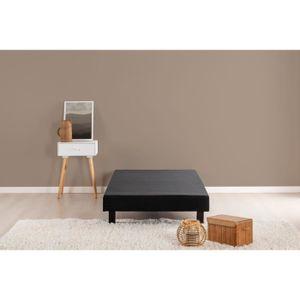 SOMMIER Sommier tapissier 120 x 190 - 16 lattes - Noir mat