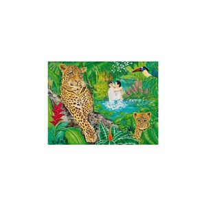 PUZZLE Puzzle Adulte 1500 Pieces : Leopards Dans La Foret