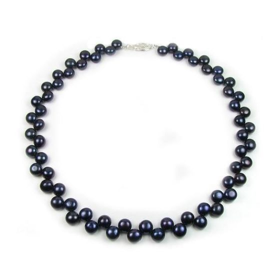 collier de perle de culture noir