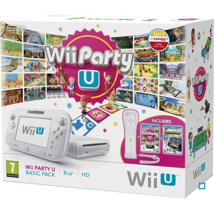 CONSOLE WII U PACK BASIC WII PARTY U + NINTENDO LAND  / WII U
