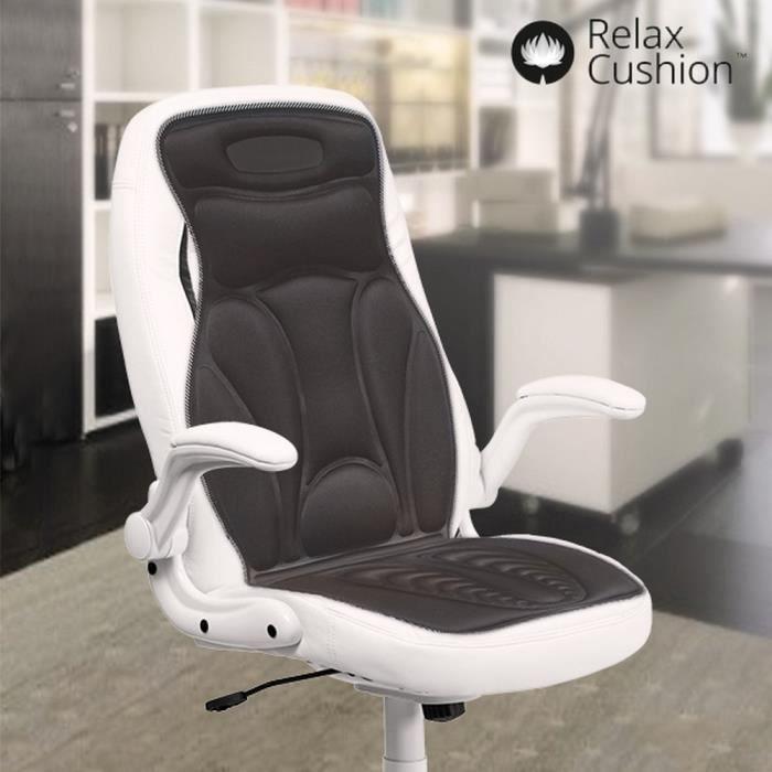 Tapis siege de masage vibrant chauffant pour fauteuil chaise et voiture Comment Ca Va Bien Etre