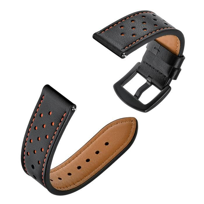 bracelet de montre vendu seul Bracelet de montre en cuir bracelets pour montre intelligente Amazfit Stratos 2 - 2S BK