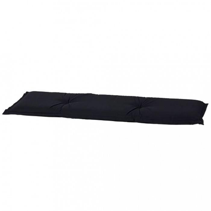 Magnifique Madison Coussin de banc Panama 120 x 48 cm Noir BAN6B223