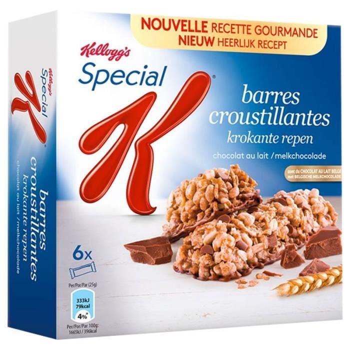 Special K Barre Céréales Chocolat au Lait 120g (lot de 10 x 3 boîtes)