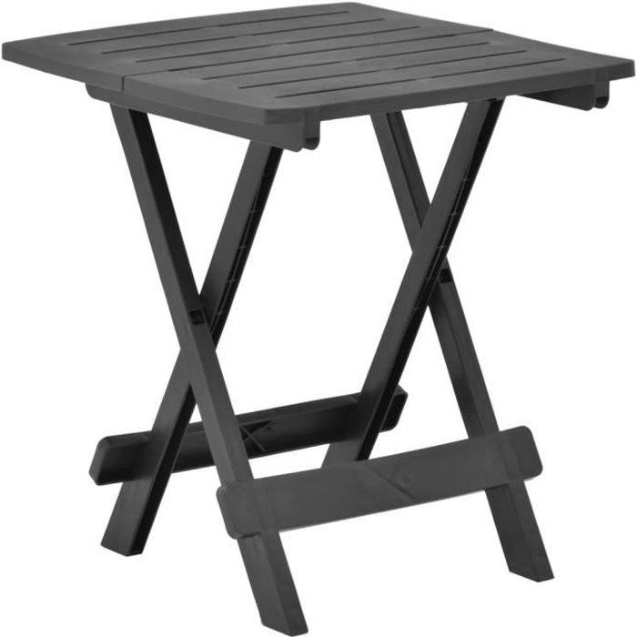 Table de Jardin Pliable - Table de reception pliante fête Buffet Jardin Camping Party- Anthracite 45x43x50 cm Plastique