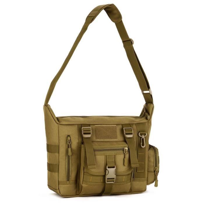 khaki Shoulder bag Autre -Sac à bandoulière tactique de protection Plus, sac à bandoulière militaire étanche, sac messager de voyage